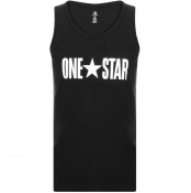 Converse One Star Vest T Shirt Black